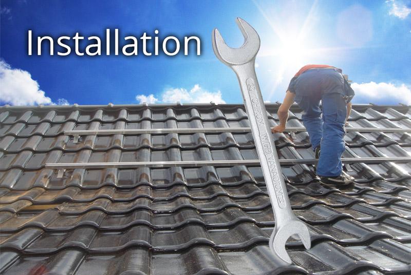 Installation und Montage einer thermischen Solaranlage - Solarthermie