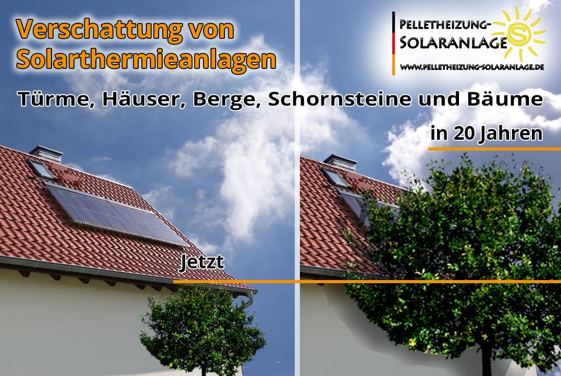 Solarthermieanlage - Verschattung