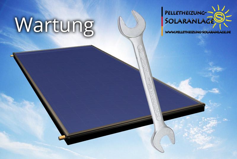 Warung von thermischen Solaranlagen - Solarthermie