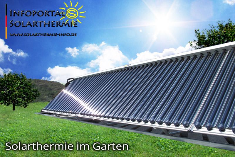 Solarthermie im Garten